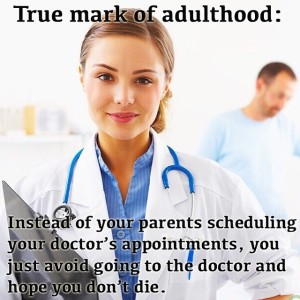 doctors appointments as an adult