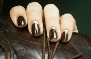 dark fall nail polish color